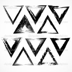 Download - Vector set of grunge triangle brush strokes. — Stock Illustration #26407167