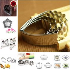 DIY Baking Cookie Cutter Mold Fondant Pastry Biscuit Stainless Steel Mould Set
