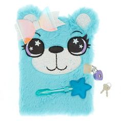 Claire's Brooke the Bear Lock Plush Diary – Mint – Calculating Infinity Cute Diary, Rainbow Lion, Cute Notebooks, Journals, Kids Winter Fashion, Stationery Set, Stationary, School Stationery, Cute School Supplies