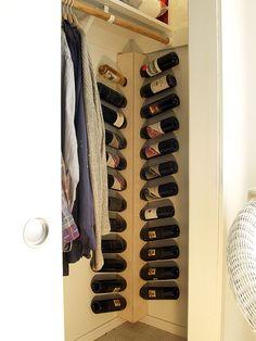 wine rack corner unit