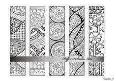 Bookmark printable coloring pages coloring by DifferentStrokesArts Cool Coloring Pages, Animal Coloring Pages, Printable Coloring Pages, Coloring Books, Christmas Doodles, Zentangle Patterns, Zentangles, Doodle Coloring, Doodle Designs