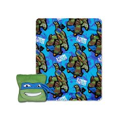 Teenage Mutant Ninja Turtles Leo Maxin 3D Pillow & Throw Set, Multicolor