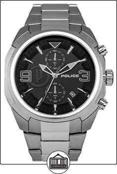 Police Reloj de Hombre Gambit de Cuarzo con esfera negra, pantalla analógica y brazalete plateado de acero inoxidable 14141JS/02M de  ✿ Relojes para hombre - (Gama media/alta) ✿