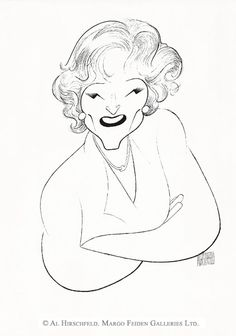 AL HIRSCHFELD'S portrait of BETTY WHITE