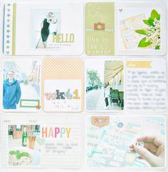 made by Justt: Project Life - weeks Hello Live, Project Life Album, Happy, Projects, Blog, Log Projects, Blue Prints, Ser Feliz, Blogging
