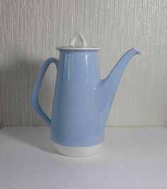 vintage figgjo flint of norway crocus coffee pot by DutchTrader, Cheese Dome, Cream And Sugar, Chocolate Pots, Vintage Coffee, Kitchenware, Stoneware, Tea Pots, How To Memorize Things, Tablewares