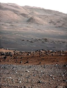This was released just moments ago (27 Aug, 2012). It's the base of Mt. Sharp on Mars. If you're viewing this today, you are among the first human beings to see this place. Credit: NASA/JPL/MSSS http://mars.jpl.nasa.gov/msl/multimedia/images/?ImageID=4565