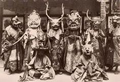 Tibetan ritual dancers depicting entities encountered in the Bardo worlds.