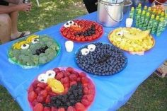 Fresh Idea - Great way to get kids to eat their fruits and veggies before or after a swim in the above ground pool.