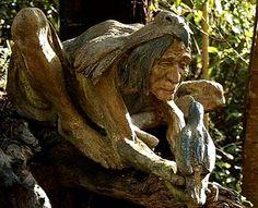 The Fantasy Sculpture Garden of Bruno Torfs Destroyed in Australian Bushfires Art Sculpture, Sculpture Garden, Tree Carving, Garden In The Woods, Fantasy Inspiration, Garden Statues, Tree Art, Garden Art, Fantasy Art