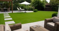 like the furniture, synthetic turf (though not ideal for insects/birds)