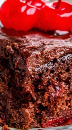 Chocolate cherry sheet cake