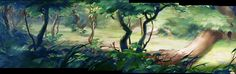 Bambi Animation Backgrounds