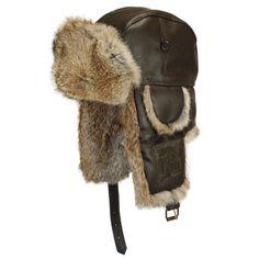 Chapka Rush Rmoutain en cuir Marron #hiver #mode #homme #streetwear #urbanwear avec @hatshowroom