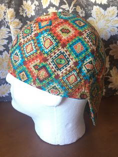 WELDING CAP MADE WITH  STARS IN BLOCK  FABRIC