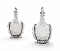 A PAIR OF VICTORIAN SILVER PILGRIM-FLASKS   MARK OF CHARLES THOMAS FOX AND GEORGE FOX, LONDON, 1849   Christie's Charles Fox, King George I, Water Flask, Christian Ix, Royal Families Of Europe, Female Mask, The Royal Collection, London Museums, Plate Display