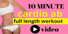 BELLY FAT WORKOUT - This full length home workout video is a 10 minute standing cadio ab routine, that helps strip off belly fat and tones your abs at the same time. All the moves are standing up and Home Workout Videos, At Home Workouts, Personal Training Courses, Cardio Abs, Workout Abs, Dumbbell Workout, Ab Routine, Workout Bauch, Belly Fat Workout