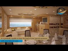 This 155ft Desert Rose yacht can accommodate up to 250 guests at a time. It is equipped with every luxury.It's time to set a unique venue of your events as this Desert Rose yacht brings every facility onboard for you.