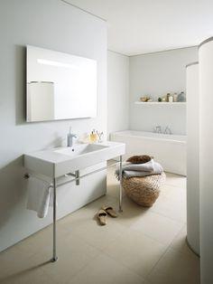 Consola cromada del lavabo Vero | DURAVIT | Pinterest | Consoles ...