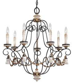 Accents Provence Patina 7Lt. Chandelier