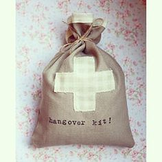 Classy Hen Party Accessories | Favours love these gorgeous handmade hen party hangover kits! Limited stock ladies. #hen #party #bridal #shower #favour #hangover #kit #goody #bags #survival #cute #classy #stylish #sophisticated