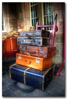 wonder how many places this luggage has travelled