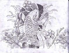 koi fish sleeve by primitive-art