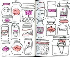 Spice jar drawing