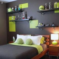 Orange boys rooms on pinterest boy rooms twin headboard and preteen boys room - Super cute teenage girls room ...