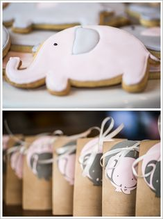 Pink and grey Elephant Birthday Party featuring an amazing elephant cake, elephant cookies, cotton candy meringues hand-made chocolate peanuts. Created by Bakermama. Pink Elephant Party, Elephant Birthday, Elephant Theme, Elephant Baby Showers, 1st Birthday Girls, First Birthday Parties, First Birthdays, Birthday Ideas, Happy Birthday