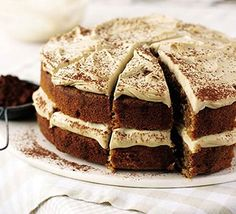 Cappucino cake recipe - I've made this cake a few times but with a light buttercream frosting instead of Marscapone.