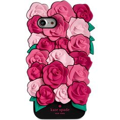 kate spade new york Roses iPhone 7 Case found on Polyvore featuring accessories, tech accessories, phone cases, phones, pink multi and kate spade