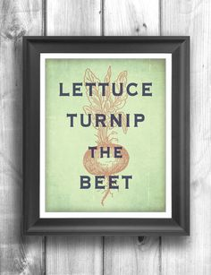 Typographic poster, inspirational print, wall decor, kitchen art, digital print, quote art, farmers market, garden print - 11x14 - Poster