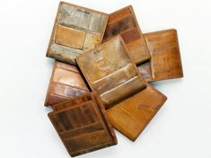 INSPIRATION: Coach Heritage Baseball Glove Billfold. Coach turns vintage leather baseball gloves into wallets