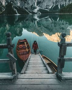 Coming out of the Lake Braies, the most beautiful lake in the Dolomites. South Tyrol, Most Beautiful, Wanderlust, Italy, Heart, Water, Places, Gripe Water, Italia