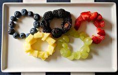 The Olympic Games Party Treat Ideas: Fruit Tray by Family Bites via Ashley Hackshaw / lilblueboo.com #olympics