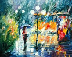 """Original Recreation Oil Painting on Canvas Title: Night Trolley Size: 24"""" x 30"""" Condition: Excellent Brand new Gallery Estimated Value: $3,500 Type: Original Recreation Oil Painting on Canvas by Palette Knife This is a recreation of a piece which was already sold. The recreation is..."""
