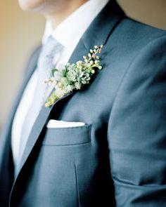 Intricate groomsman boutonniere
