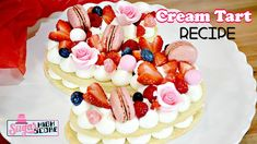 How to Make a Letter Shaped Cream Tart
