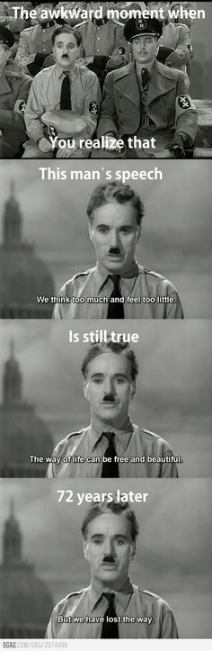 The Great Dictator Speech!