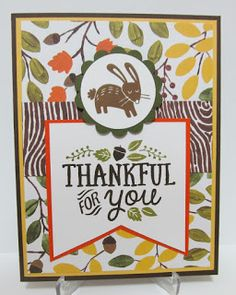 Fall card using Thankful Forest Friends stamp set by Stampin' Up! by Savvy Handmade Cards