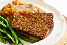 """Meat loaf"" <p>Many vegan versions of meatloaf are made with tofu, veggie ground round, tvp, or even seitan. Those tofu-averse will be happy to know there is no tofu or veggie meats in this loaf. This savory version uses only lentils, cracked wheat, oats, and chia seed, along with a mix of seasonings to make it all magically come together!</p>"