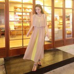 Elegant saucy round neck sleeveless long maxi dresses MF-521...