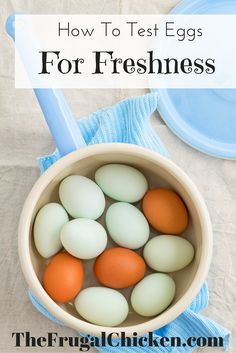 Try the egg float test to see if your eggs are good or bad. Come across a nest of eggs and don't know if they're good or bad? Test them! From FrugalChicken: