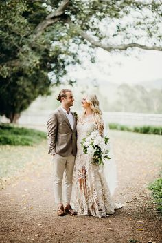 EMILY + NICK // #wedding #realwedding #australianwedding #bride #realbride #ruedeseine #bridalgown #weddingdress #bouquet #bridalbouquet #flowers #love #groom #suit #outdoors