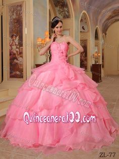 Sweet Sixteen Dresses in Rose Pink
