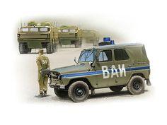 Рисунки автомобилей: Петр Перешивайлов УАЗ-469 ВАИ