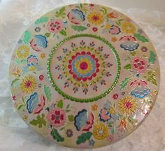Vintage Dutch Biscuit/Cookie Tin Colorful Floral by RitasGarden, $14.50
