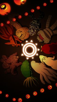 Tailed beasts- Shukaku-one tail, Matatabi-two tail, Isobu-three tail, Son goku-four tail, Kokuo-five tail, Saiken-six tail, Chomei-seven tail, Gyuki-eight tail, Kurama-nine tail