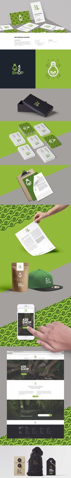 Goodpix identyfikacja wizualna dla firmy 420 shop.